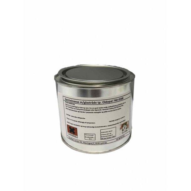 Spartelmasse med glastråde 0,5 kg.